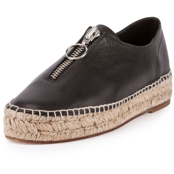Alexander Wang Devon Zip Espadrille Sneaker (43080 RSD) ❤ liked on Polyvore featuring shoes, sneakers, black, platform espadrilles, platform shoes, espadrille sneakers, espadrilles shoes and zipper sneakers