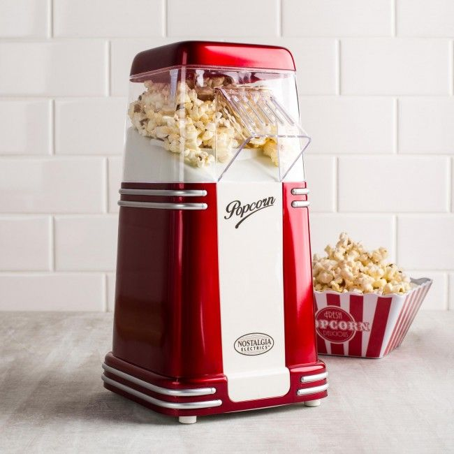 The clear top housing allows you to watch fresh and delicious popcorn over flow into a bowl below. With the RETRO SERIES MINI HOT AIR POPCORN MAKER, popcorn has never tasted so good at home!