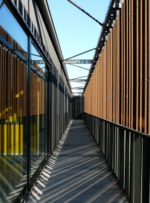 Drivers' License Bureau, Gennevillers, France  by: A + Samuel Delmas Architectes