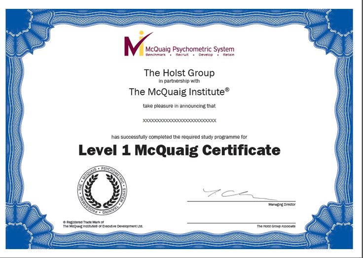 Level 1 McQuaig system certification training