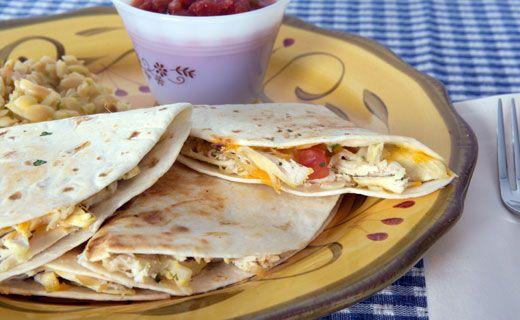 Epicure's Nacho Chicken Quesadillas