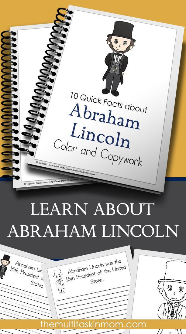 Teach your children about Abraham Lincoln with this fun and easy to use Color and Copywork Pack. Just print and go. Perfect for all homeschoolng families.
