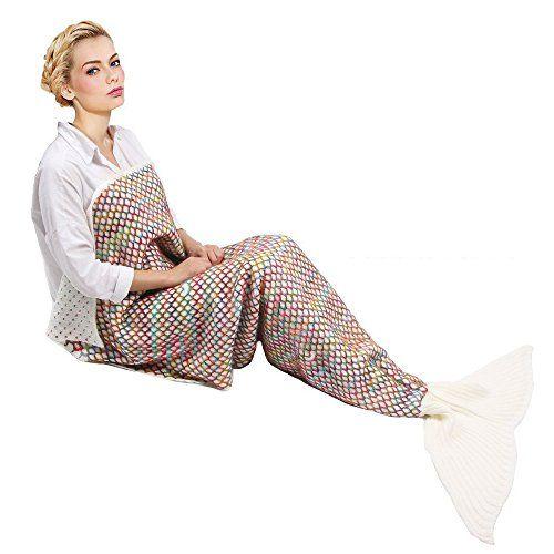 Meerjungfrau Decke, GEEKHOM f�r alle Jahreszeiten, weiche Meerjungfrau Decke mit Flosse f�r Erwachsene & Jugendliche (Dunkelviolett)