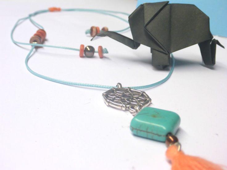 Handmade macrame necklace with tassel