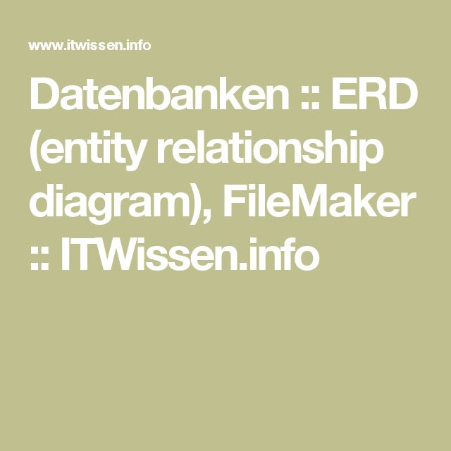 Datenbanken  ERD (entity relationship diagram), FileMaker - relationship diagram