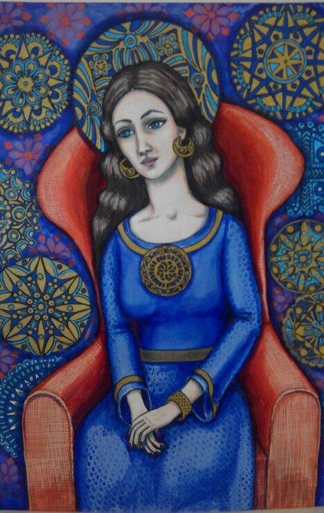 Tusj og akryl på A3 akvarell papir