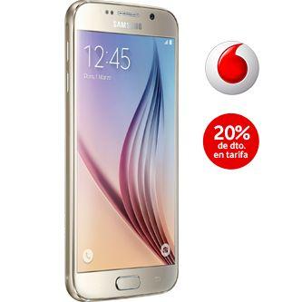 Ahora en Vodafone podrás adquirir el nuevo Samsung Galaxy S6 por el mejor precio del mercado, contratando alguna de sus tarifas de móvil. Ahorra hasta 180€