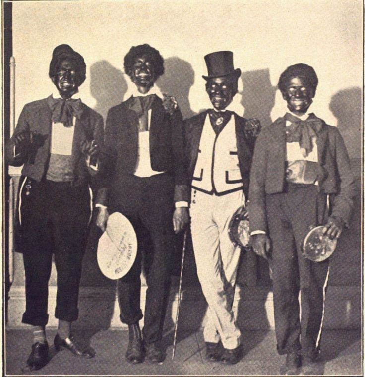 minstrel shows, using some elements of satire, criticized and stereotyped black Americans as stupid, happy, watermelon-eating, do domestic jobs or servant type of job, carefree, have thick lips and big mouths, superstitious, lazy, irresponsible, violent, aggressive, and threatening. Uncle Tom, Sambo, Mammy, Mulatto and Wench, Pickaninny, and Buck were the popular cartoon depiction of black Americans in the 19th century and early to mid 20th century.