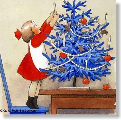 Rudolf Koivu Christmas illustration