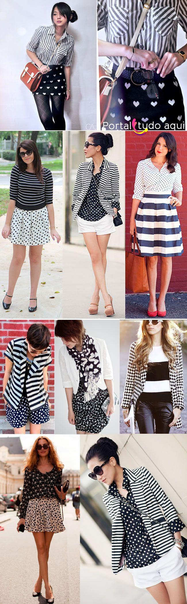 Mix de estampas preto e branco é tendência para a primavera verão 2014   Portal Tudo Aqui
