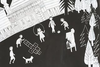 Dafna Zayden: Illustration from a book about a little jewish gir...