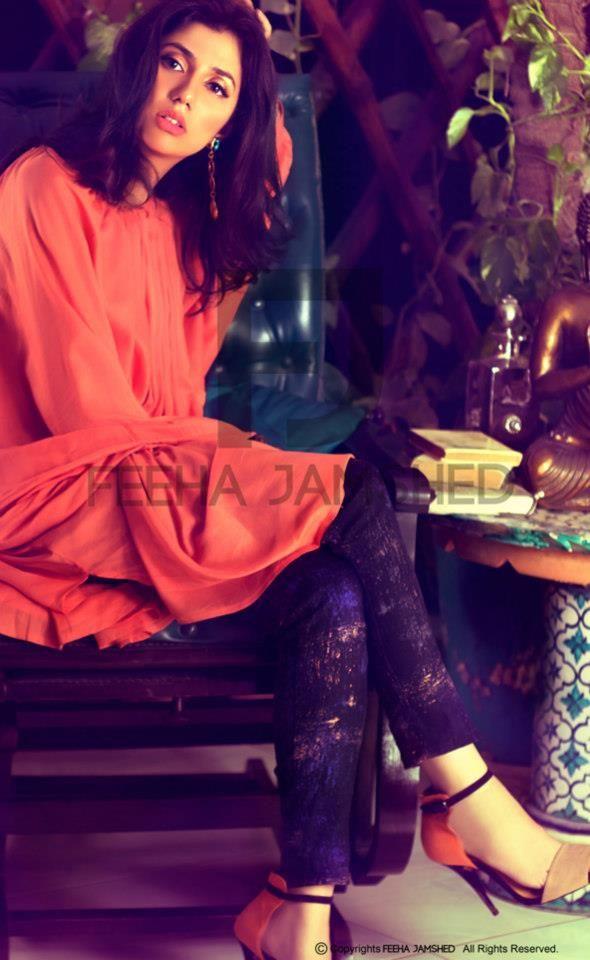Model and TV Actress Mahira Khan in a Pakistani fashion shoot