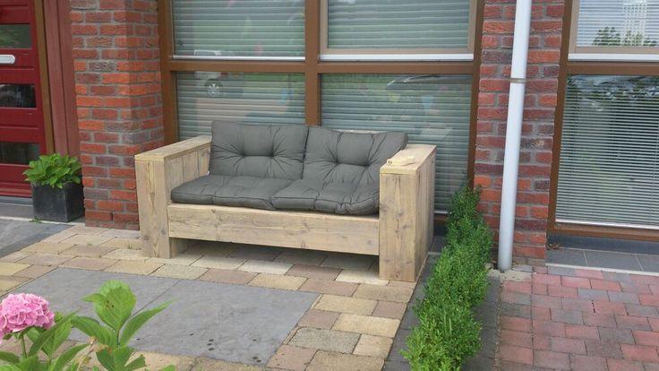 Loungebank van steigerhout-totaal