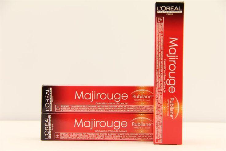 L'Oréal Professionnel Majirouge Rubilane Haarverf 6.64 50ml  L'Oréal Professionnel Majirouge Rubilane. Permanente crèmekleuring voor zeer levendige roodtinten met intensieve glans en optimale dekking. Door de 'Ionen-G' en de 'HiChroma' wordt het haar verstevigd verzorgd en is het kleurresultaat intensief en lang houdbaar. Majirouge Rubilane verbetert tevens de haarstructuur en zorgt voor intense kleurdiepte.  EUR 10.50  Meer informatie