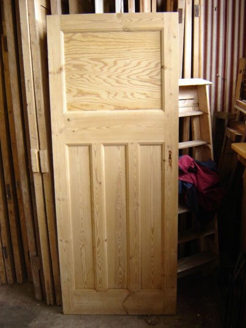 Edwardian pine door...approximately 1920's Dimensions: H2016cms W808cms D34cms and  H1950cms W762cms  D34cms
