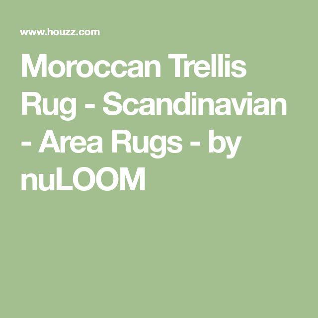 Moroccan Trellis Rug - Scandinavian - Area Rugs - by nuLOOM