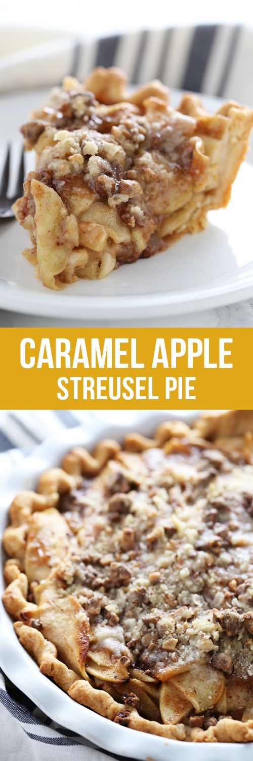 Caramel Apple Streusel Pie