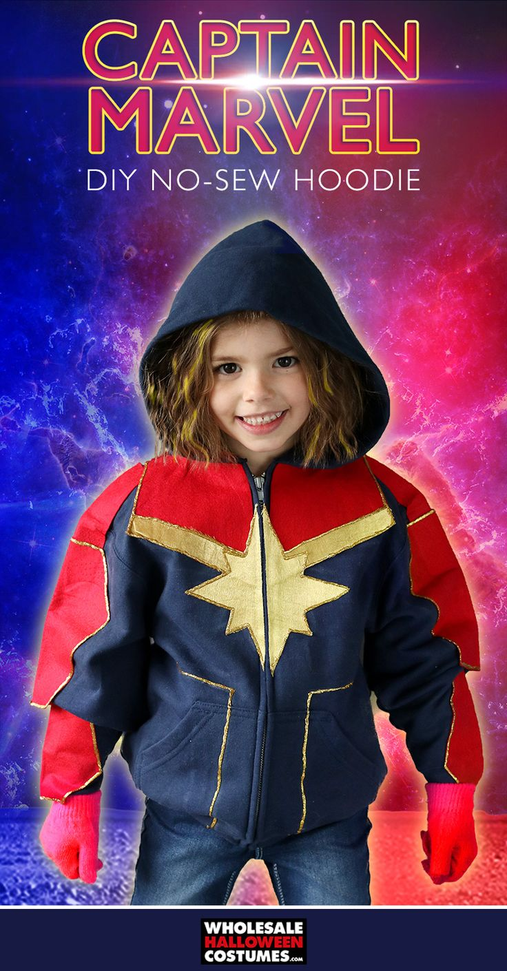 Diy Captain Marvel Hoodie Marvel Halloween Costumes Diy Girls Costumes Marvel Costumes Carol danvers has worn several costumes over the years as both ms. diy captain marvel hoodie marvel