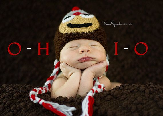 Ohio State Hat: Osu Buckeyes, Babies, Ohio State Buckeyes, Idea, Newborn Photos, U.S. States, Kid