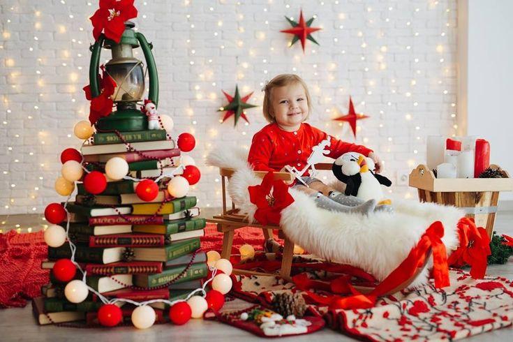 Новогодний декор для детской фотосессии. Гирлянда (тайские фонарики) «Red&White», 35 шт. Цена 650 грн.