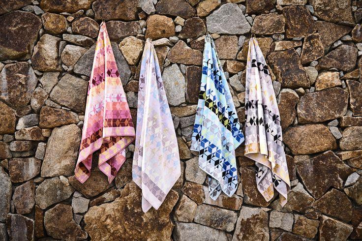 Ziporah designer Towels. L-R: Acer, Tenera, Serenus, Fidelis