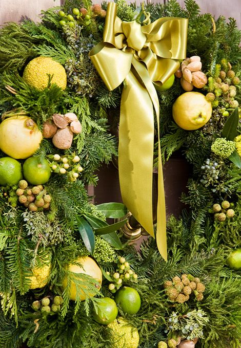 Wreath with fruits nuts and berries christmas pinterest