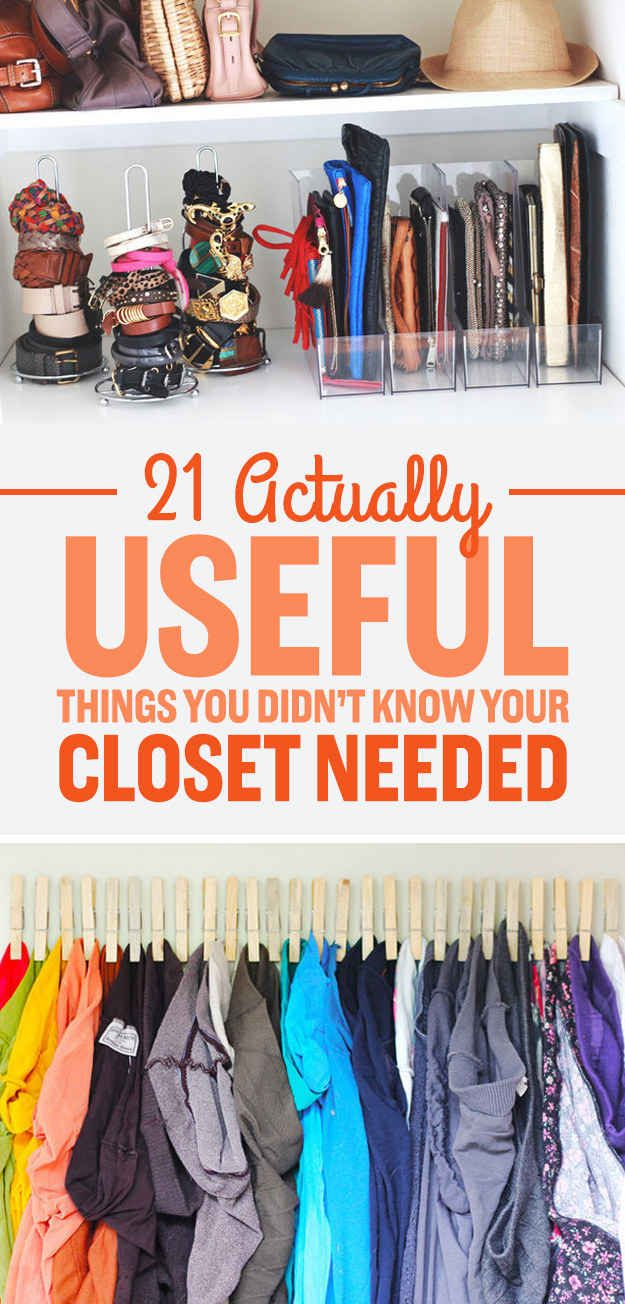 21 Useful Things That Will Actually Organize Your Closet