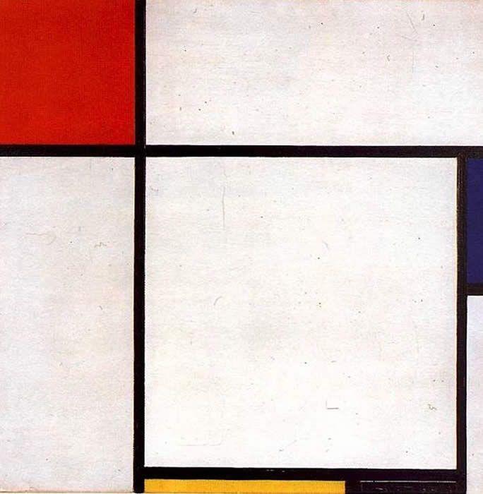 peinture abstraite hollandaise : Mondriaan