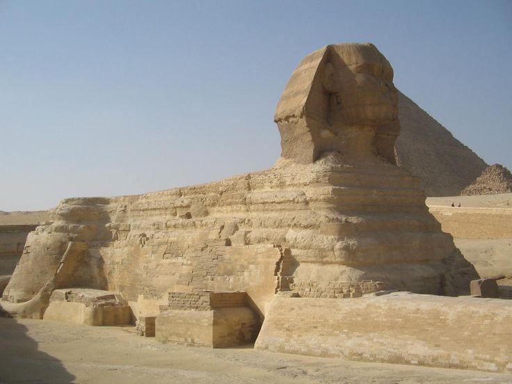 The Sphinx and Great Pyramid.  Photo: David Yustin