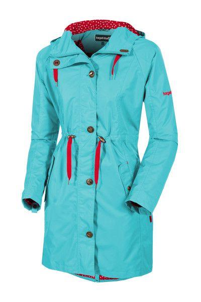 Target Dry Ladies Alexa 3 4 Length Parka Coat - Ocean Blue Longer Length Ladies Raincoat The perfect springtime cover-up the Alexa Parka is