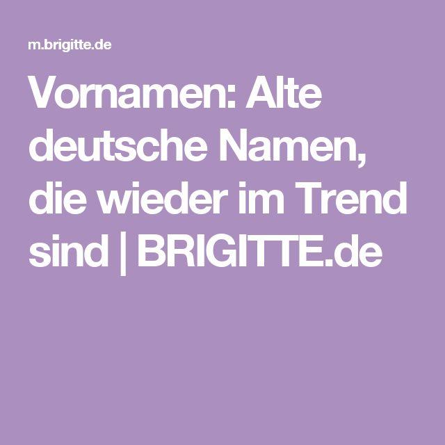 Vornamen: Alte deutsche Namen, die wieder im Trend sind | BRIGITTE.de