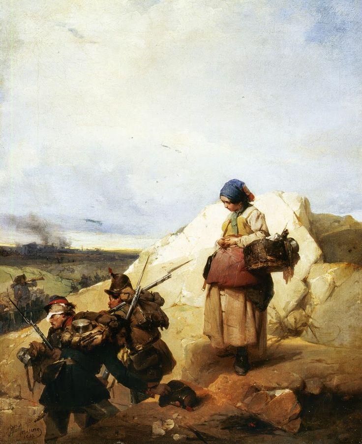 Γυναίκα που επιμελείται τη τροφοδοσία στρατιωτών (1852)