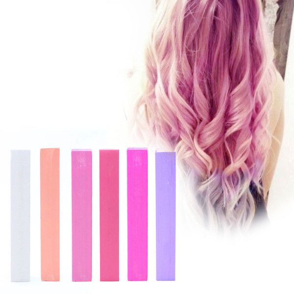 Pink Ombre Hair Dye | PASTEL BUBBLEGUM PINK Hair Color | Pink Salmon... ($9.70) ❤ liked on Polyvore featuring beauty products, haircare, hair color, hair and hair styles