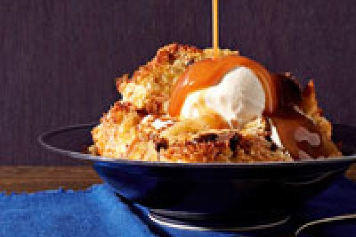 Caramel-Banana Bread Pudding Recipe | Food | Pinterest