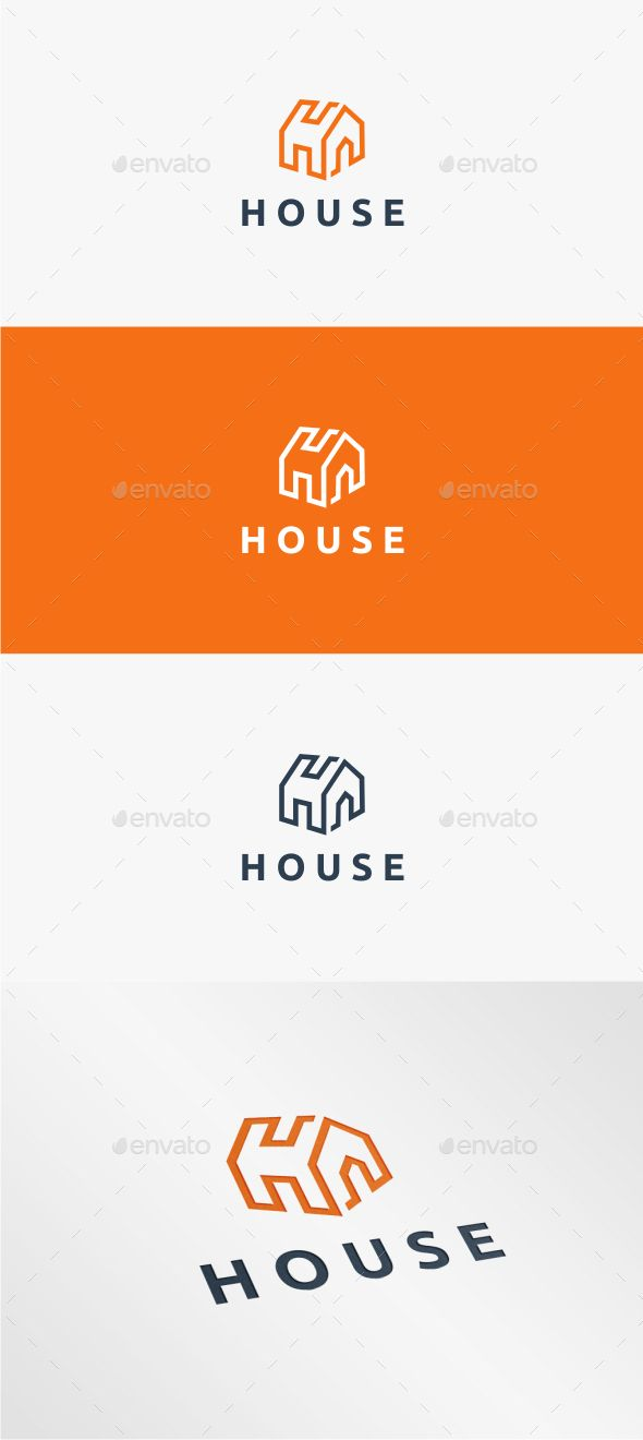 House Logo Template #design #logotype Download: http://graphicriver.net/item/house-logo-template/11093151?ref=ksioks