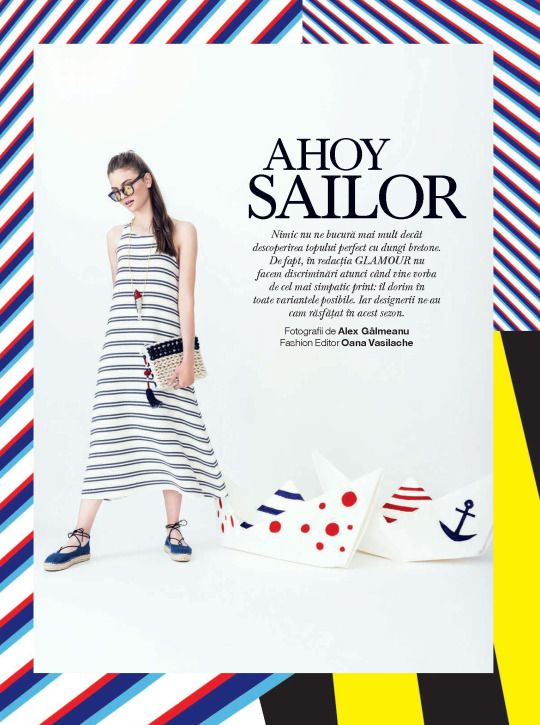 """AHOY SAILOR"" #CutlerandGross round sunglasses spotted in #Glamour Magazine Romania // June 2016"