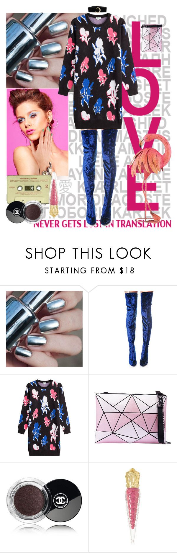 """""""Wake up everybody!"""" by estivamenti on Polyvore featuring Cape Robbin, Kenzo, Disney, Chanel and Christian Louboutin"""
