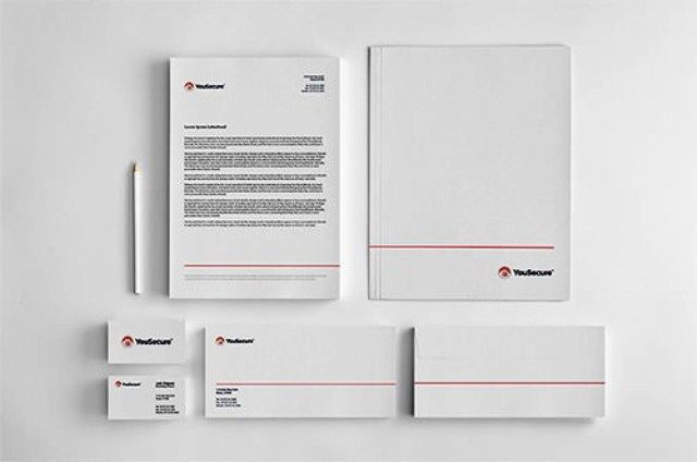 YouSecure Corporate Identity - Contoh Corporate Identity untuk Branding Bisnis