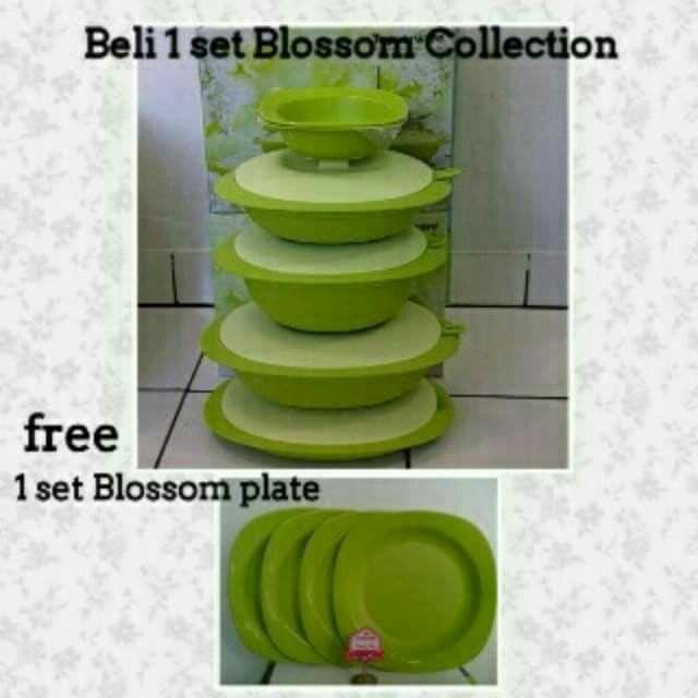Beli blosom collection..gratis large deep plate seharga 169.000 (4)  Blosommnya pun diskon loh bunda... Dari harga 680.000 diskon menjadi 476.000....gratis piring (4)