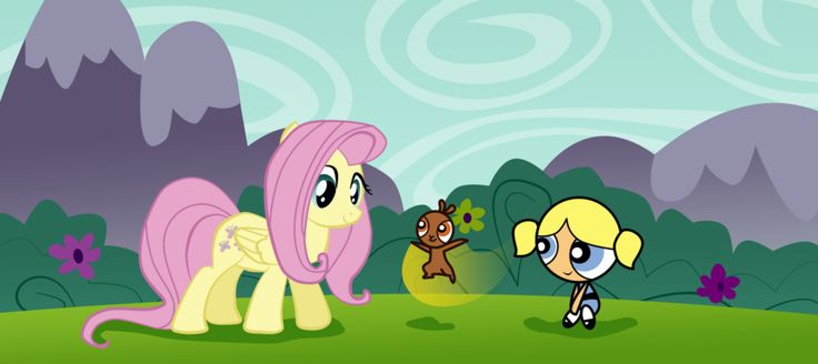Bubbles and My little pony