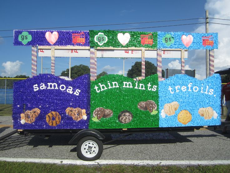 GIrl Scout float: West Central Florida - Tierra Del Sol - Lutz, fl 4th of July parade 2014