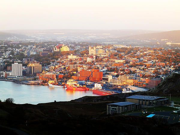 St. John's In The Morning Sun by Zinvolle - Photo taken at Signal Hill, Newfoundland, Canada. Just after the sunrise, the city is waking up in the morning sun.