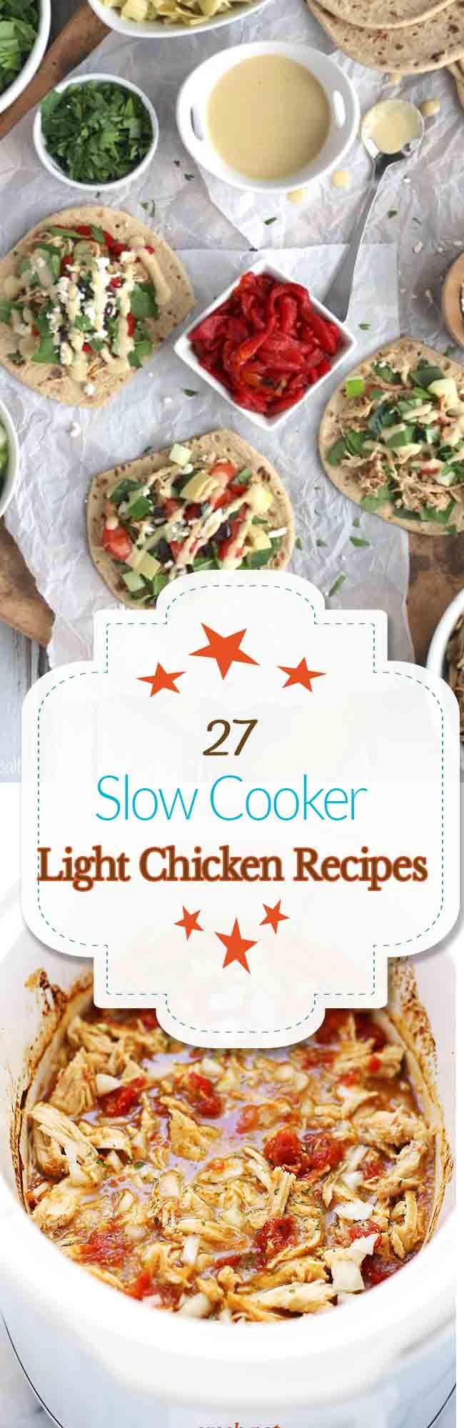 Are you keeping your 2016 healthy resolutions? Here are 27 light slow cooker recipes that star chicken. Eating light doesn't mean sacrificing flavor – you can still enjoy flavorful filling meals! Chicken breasts are a great low-calorie, high-quality protein that will fill you up while saving you more calories than other protein choices. There are [...]