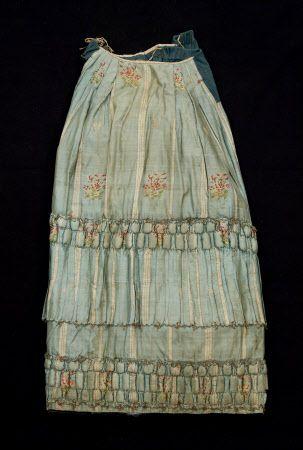1750 - 1799 petticoat trimming