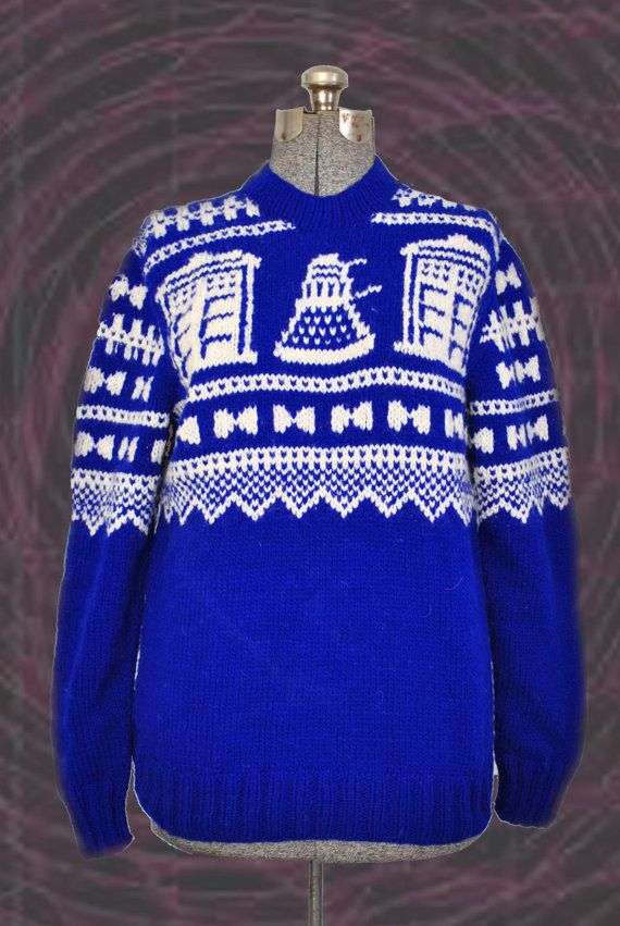 Norwegian Style Doctor Who Sweater Doctor Who Doctor Who Dr Who