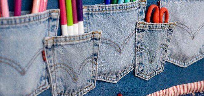 O jeans é um tecido super versátil e que pode ser usado além do vestuário de moda, meninas!Uma boa alternativa é integrá-lo na decoração de