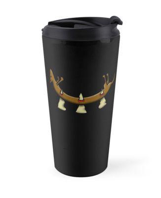 "Travel mug of my design ""Dead Dog (spikes)."