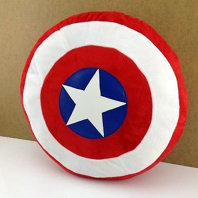 New 1 pic Captain America pillow, latest Super cool shield cushion birthday gift