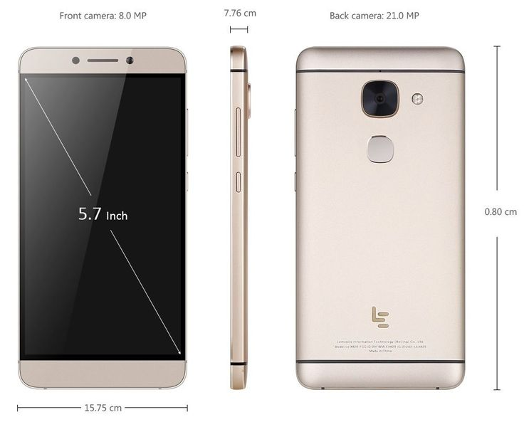 """LeTV LeEco Le Max 2 X829 4G Android 6.0 5.7"""" 2K 4GB RAM 64 Snapdragon 820 GOLD"""