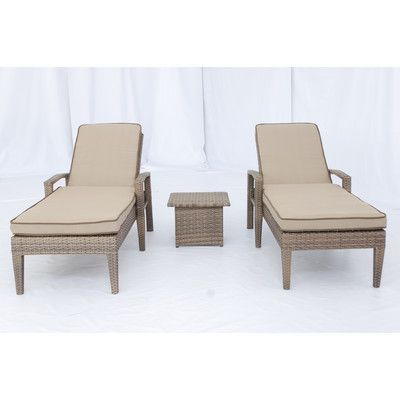 Creative Living Ferrara 3 Piece Chaise Lounge Set with Cushions - http://delanico.com/chaise-lounges/creative-living-ferrara-3-piece-chaise-lounge-set-with-cushions-531929891/